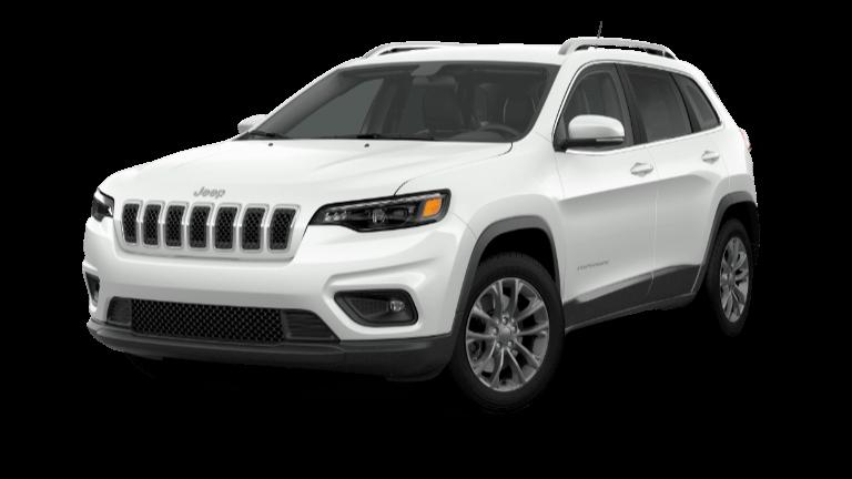 A white 2020 Jeep Cherokee Latitude Plus