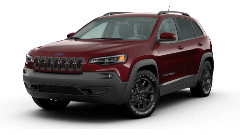 A red 2020 Jeep Cherokee Upland