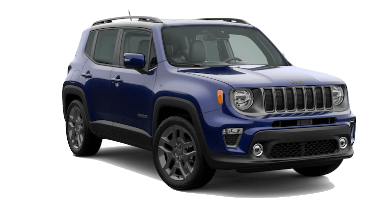 A blue 2020 Jeep Renegade High Altitude