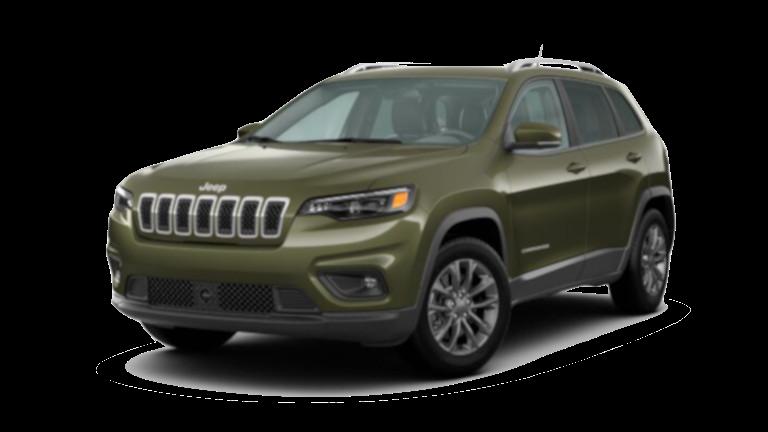 A green 2020 Jeep Cherokee Latitude Lux