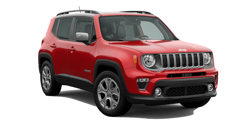 A red 2020 Jeep Renegade Limited
