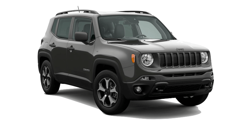 A silver 2020 Jeep Renegade North Edition