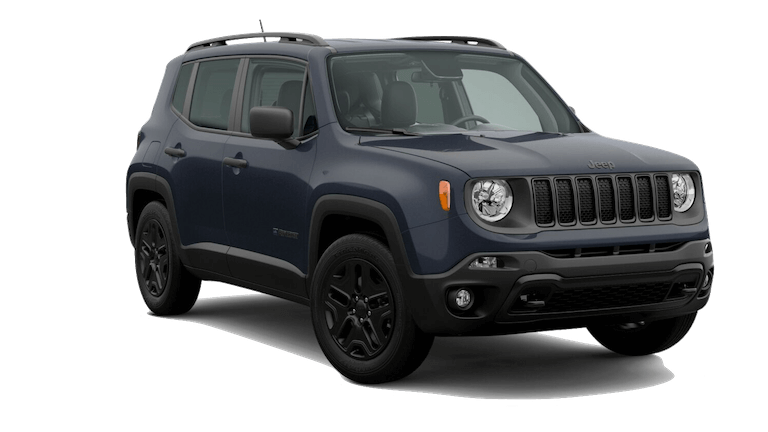 A blue 2020 Jeep Renegade Upland