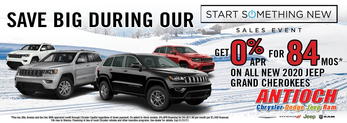 0% APR for 84 mos on all new 2020 Jeep Grand Cherokees | Antioch, I
