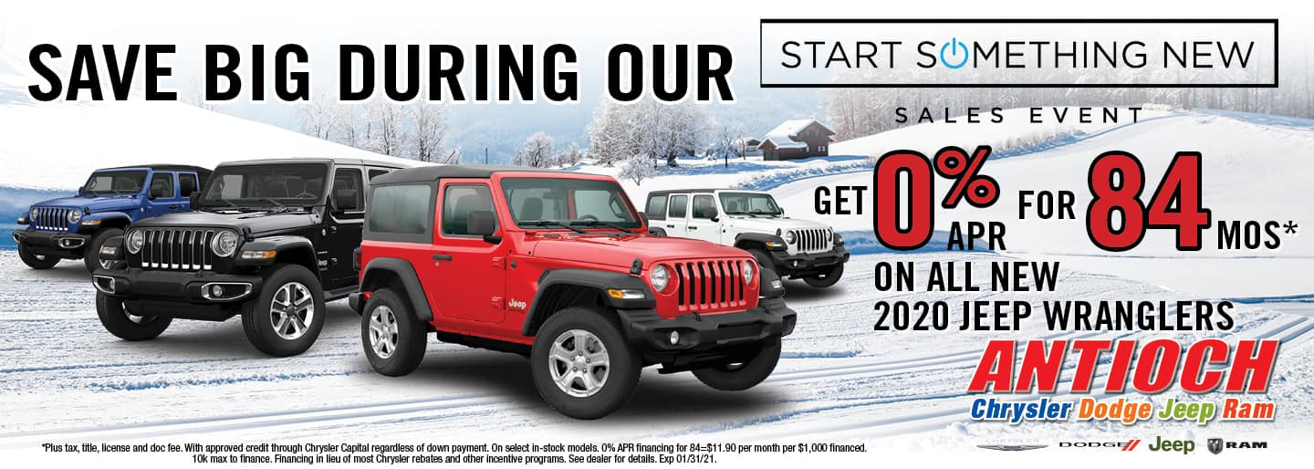 0% APR for 84 mos on all new 2020 Jeep Wranglers | Antioch, IL