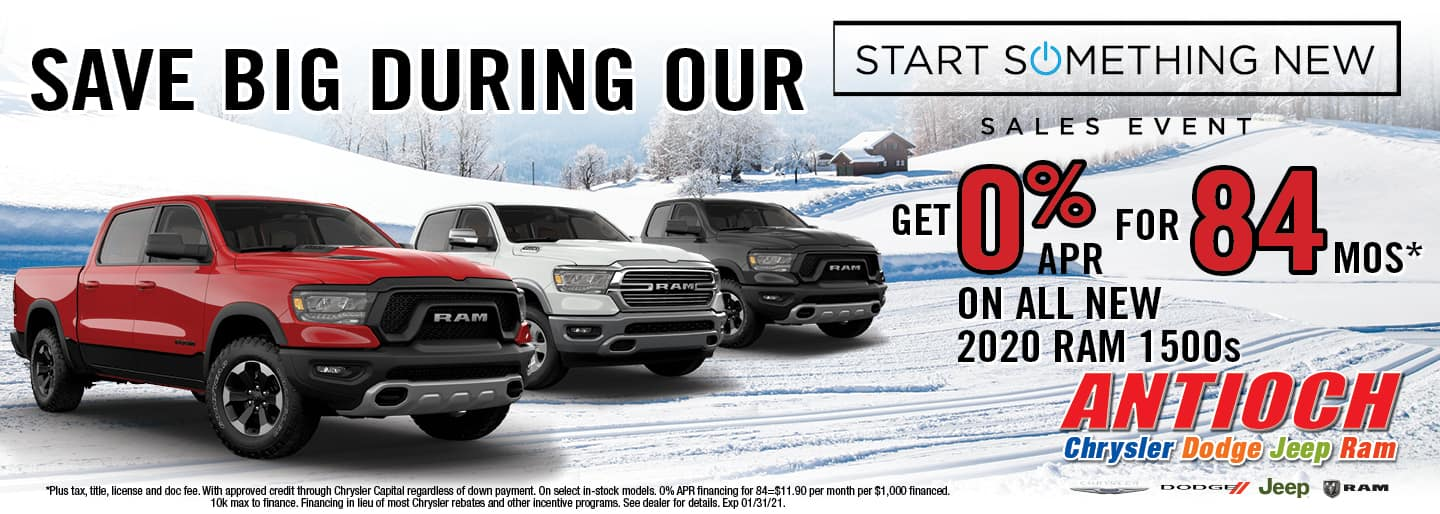 0% APR for 84 mos on all new 2020 RAM 1500s | Antioch, IL
