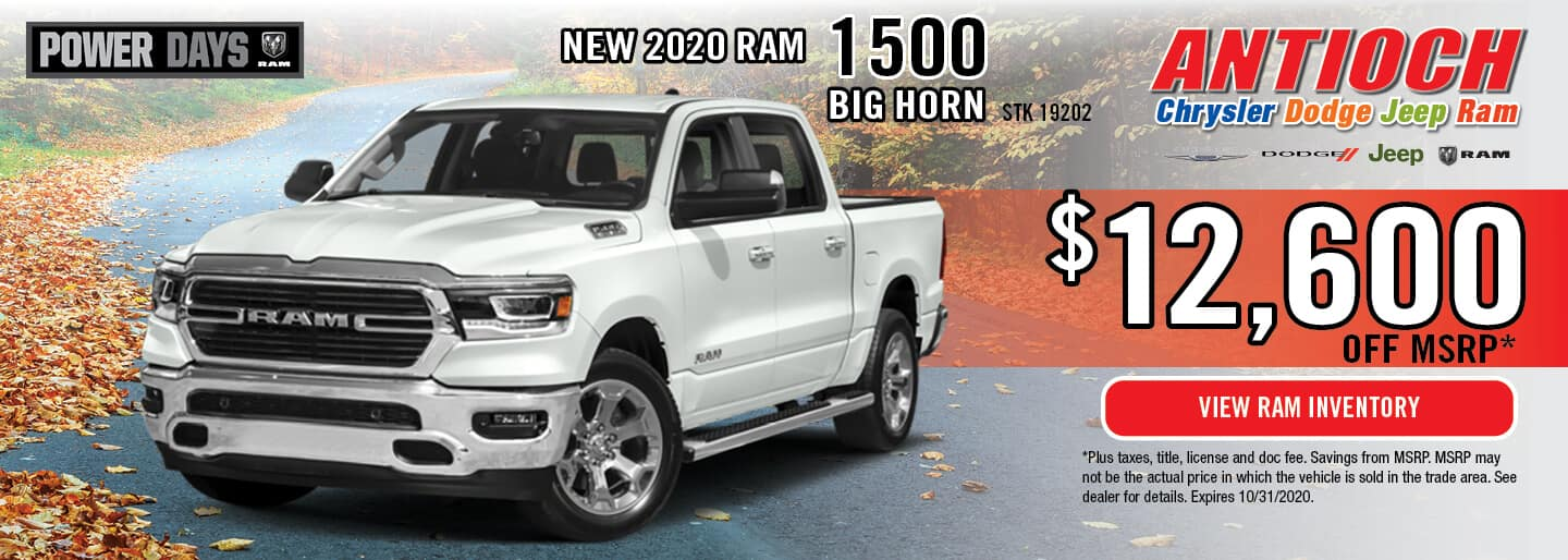 2020 Ram 1500 Big Horn | Get $12,600 off MSRP | Antioch, IL