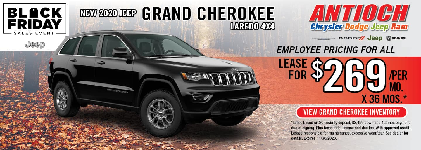 2020 Jeep Grand Cherokee Laredo | Lease for $269/Mo. x 36 Mos. | Antioch, IL
