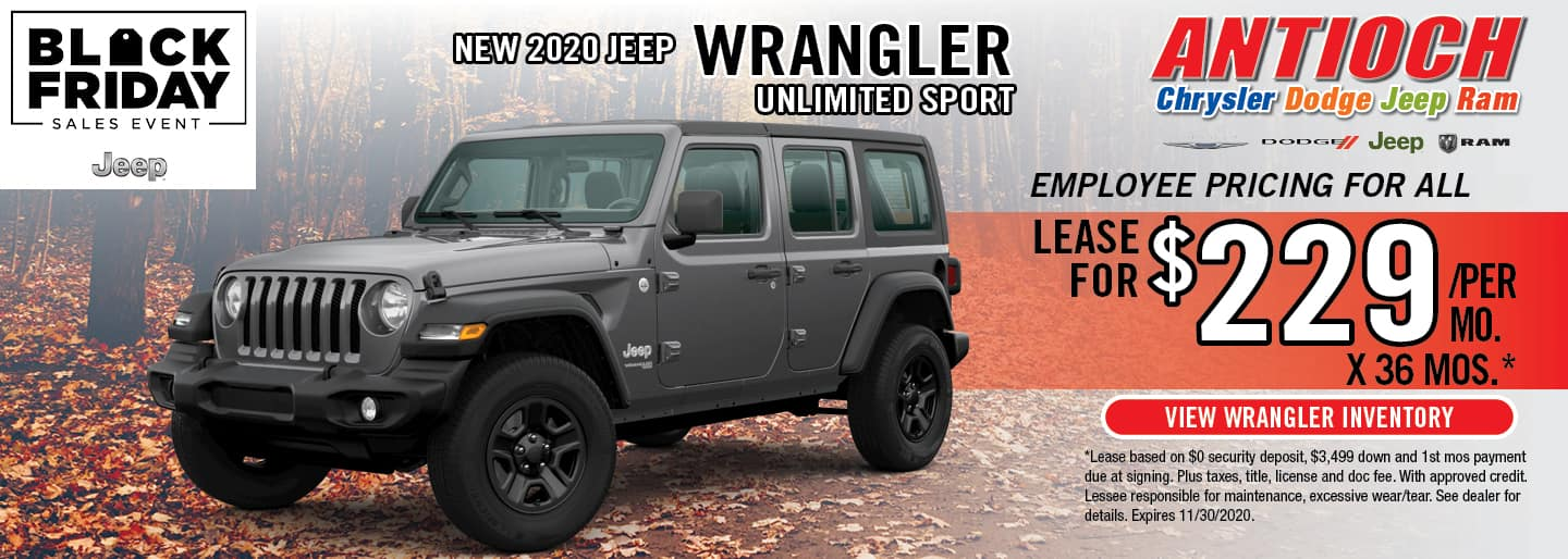 2020 Jeep Cherokee | Lease for $299/Mo. x 36 Mos. | Antioch, IL