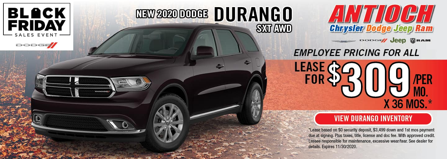 2020 Dodge Durango SXT | Lease for $309/mo. for 36 Mos. | Antioch, IL