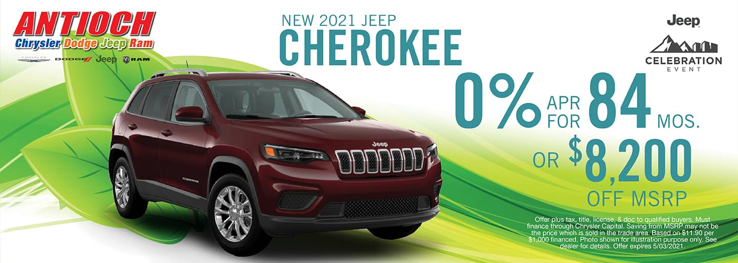 2021 Jeep Cherokee Special Offer | Antioch CDJR