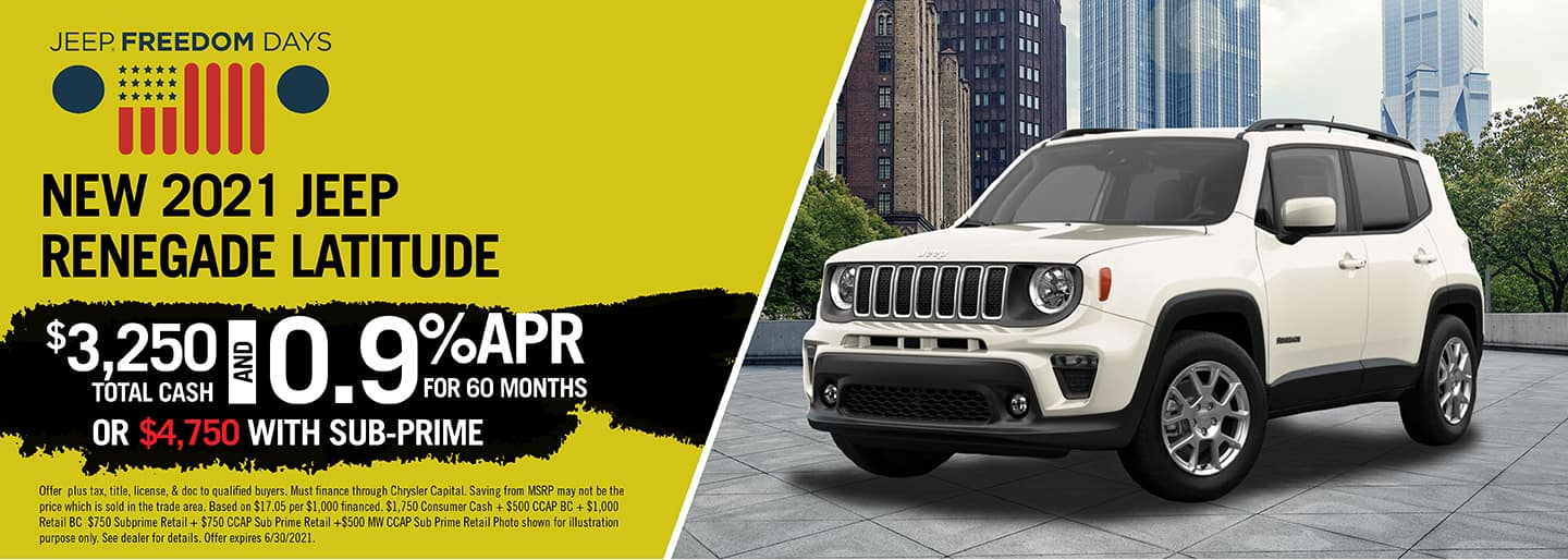 Jeep Renegade Altitude Offer