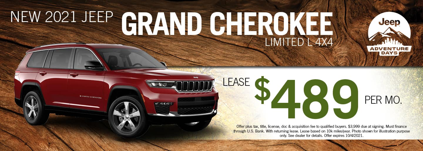 2021 Jeep Grand Cherokee Limited L 4x4 lease for $489 per month