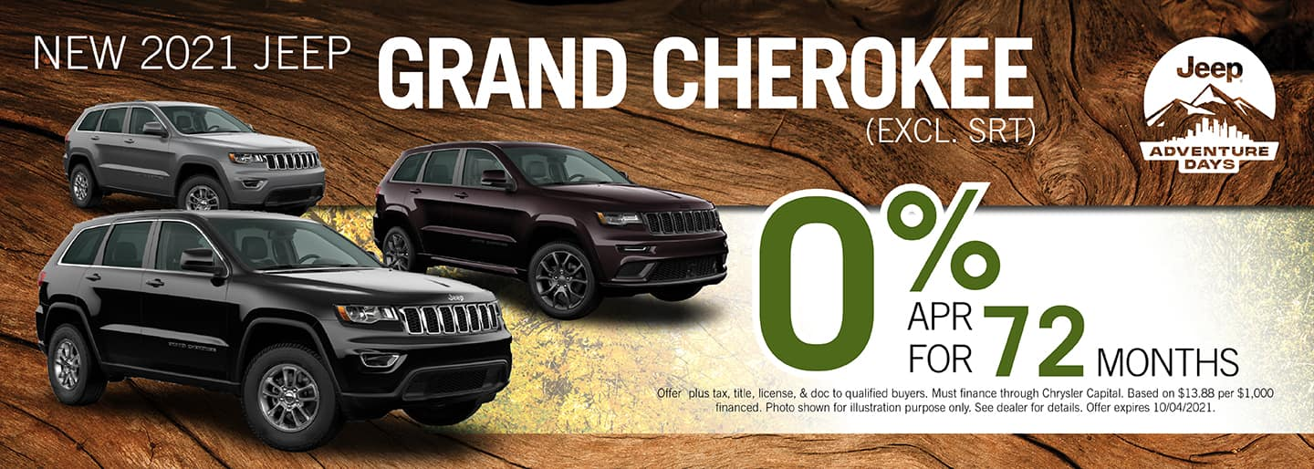 2021 Jeep Grand Cherokee 0% APR for 72 months