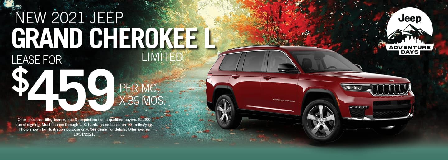 2021 Jeep Grand Cherokee L Limited for $459 per month for 36 months