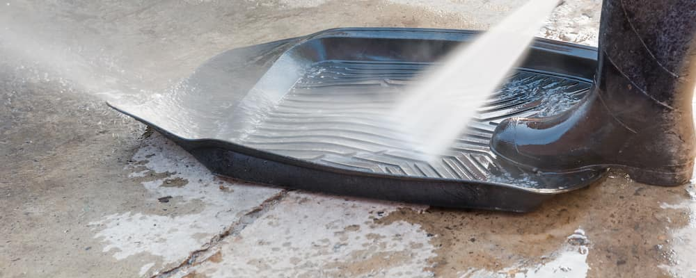 Hosing Down Car Floor Mats