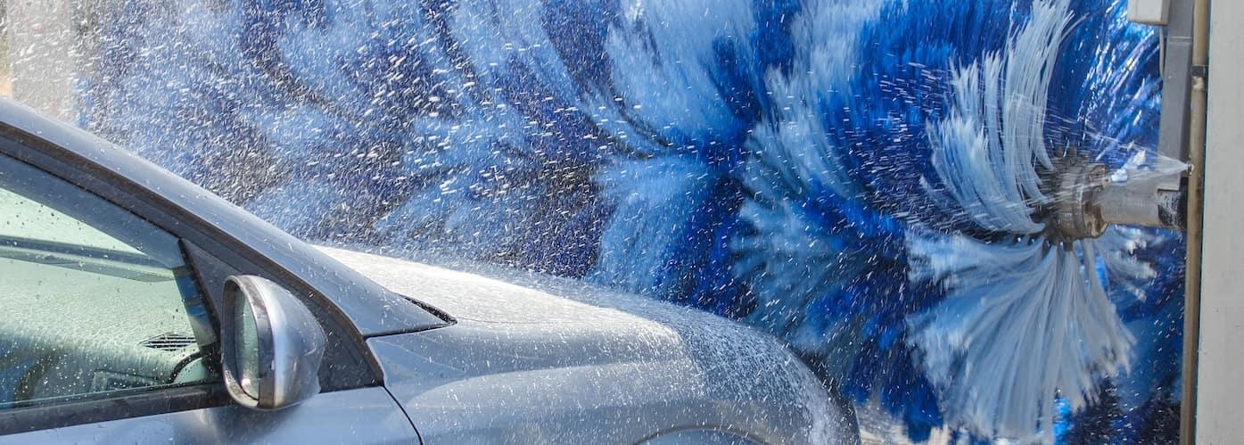 Car Entering Automatic Car Wash