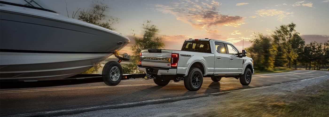 Ford Truck Towing a Boat
