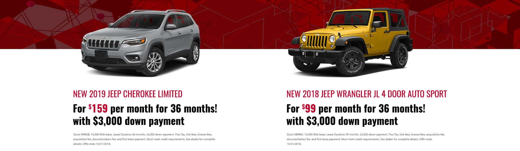 Jeep Special Offers