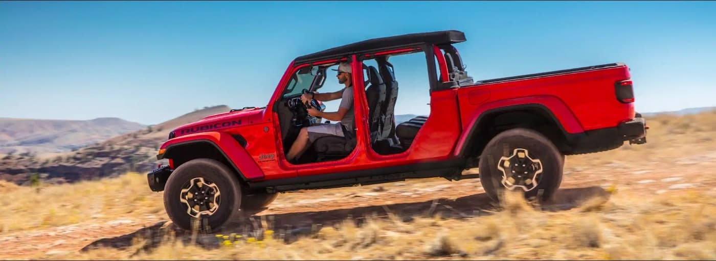 Red 2020 Jeep Gladiator Off-Road