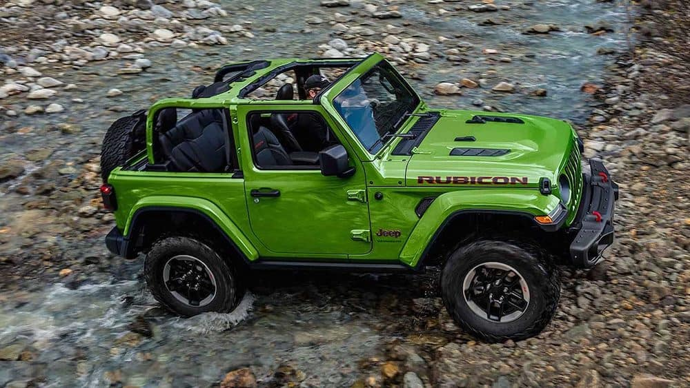 Jeep Wrangler with Top Removed