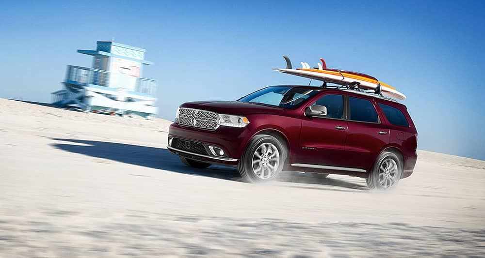 2020 Dodge Durango Driving in Desert