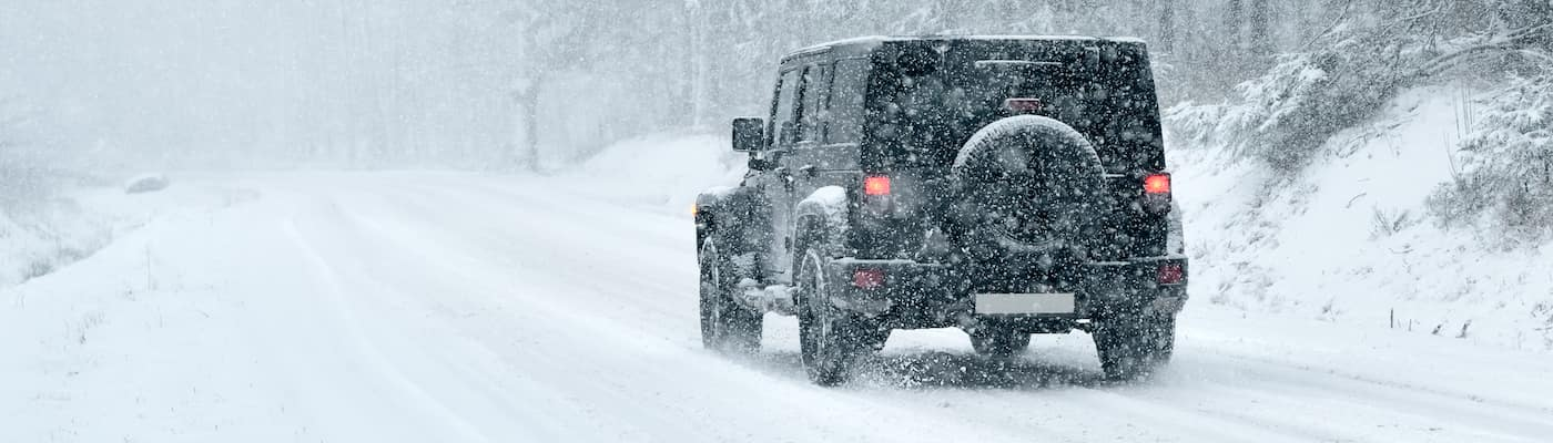 Jeep Driving in Snow