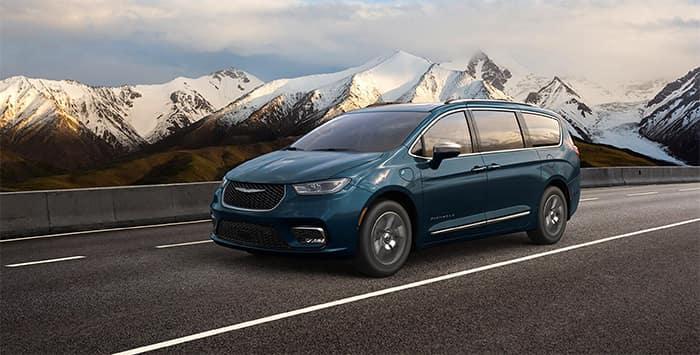 Chrysler Pacifica Driving Through Mountains