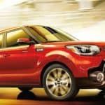 Red 2019 Kia Soul in Tunnel
