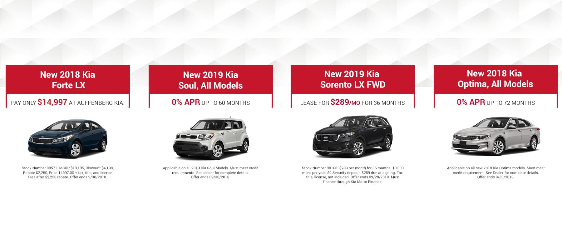 Kia September Offers