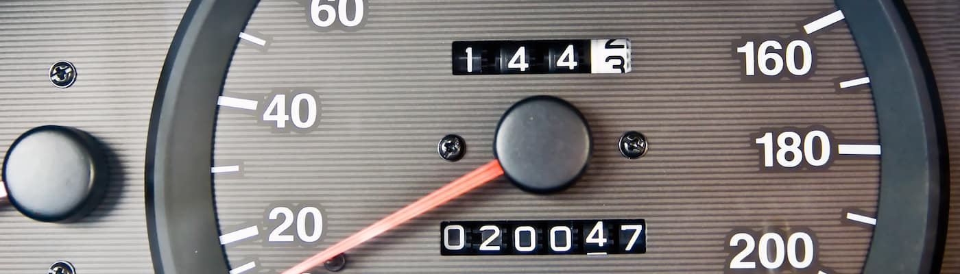 Closeup of Odometer