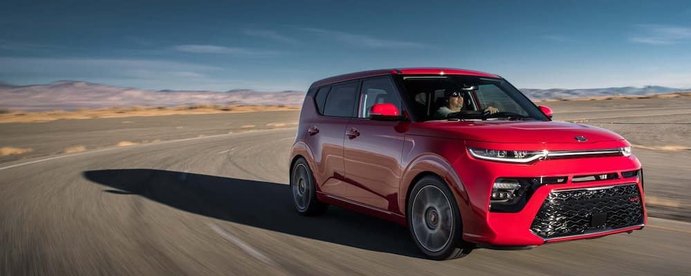 2020 Kia Soul on a Curve