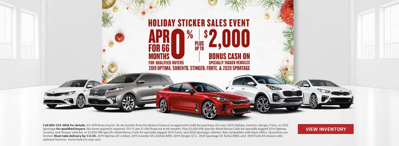 Kia Holiday Sticker Sale Event