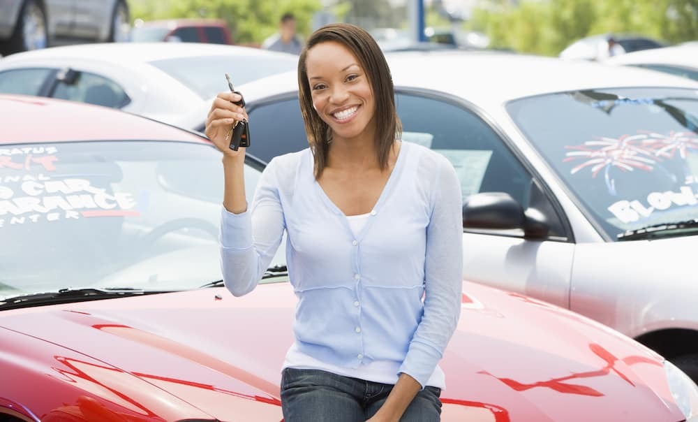 Woman with New Car Key