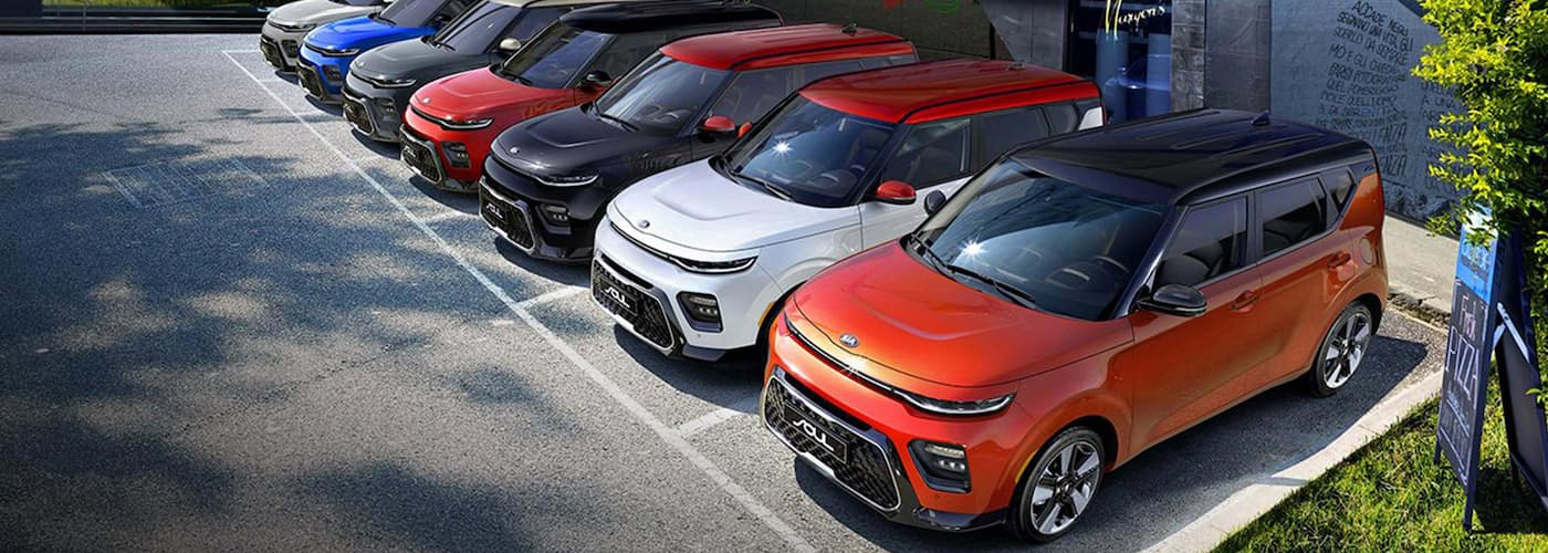2020 Kia Souls Lined Up
