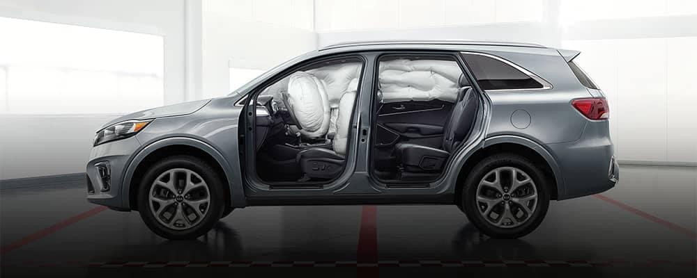 Kia Sorento View of Airbag Safety