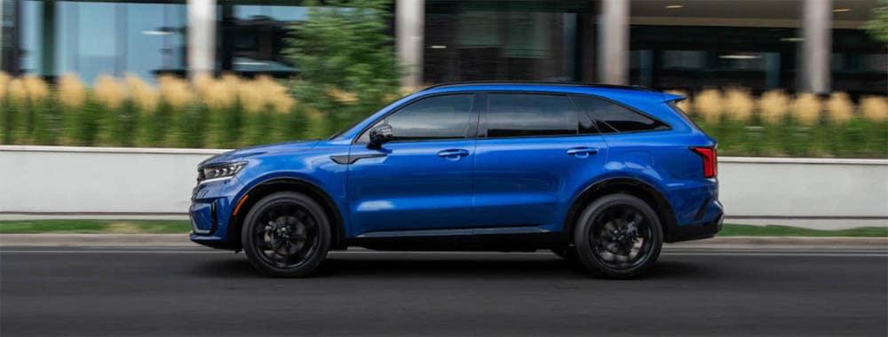 2021 Kia Sorento Side Profile Blue
