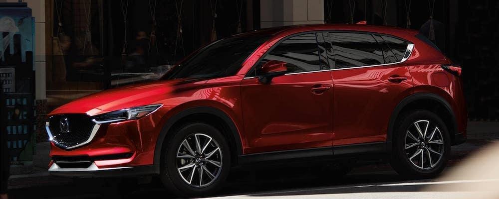 Red 2018 Mazda CX-5 Side Profile