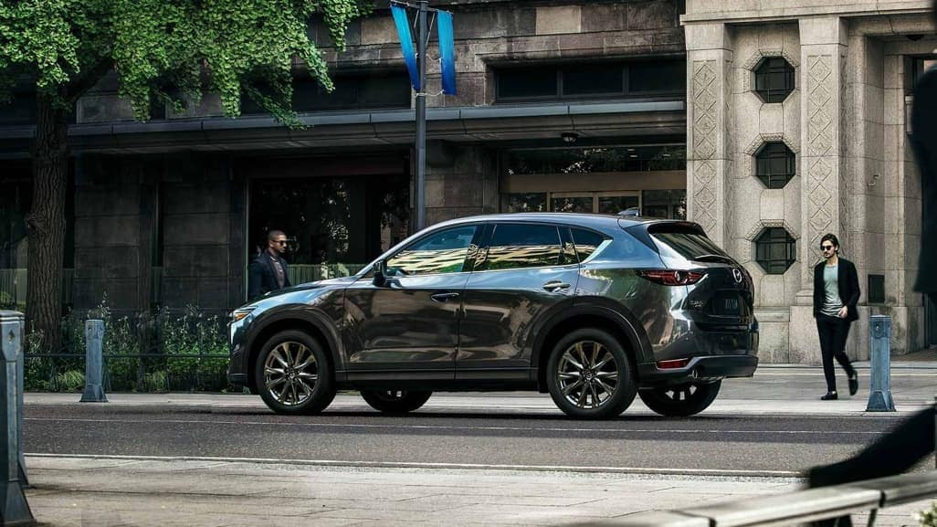 2019 Mazda CX-5 in machine gray parked