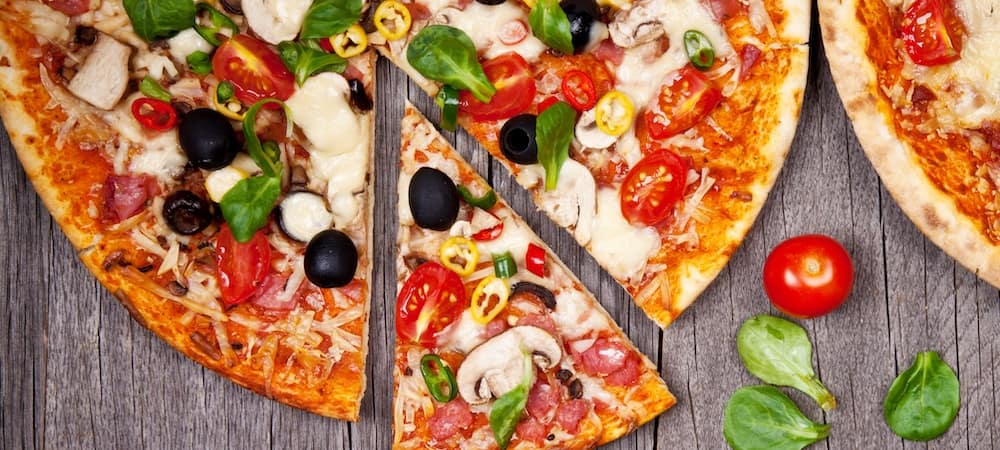 Pizza on Wooden Server