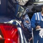 Mechanic Going Down a Checklist
