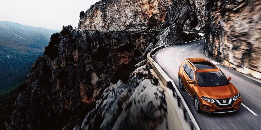 Orange 2019 Nissan Rogue