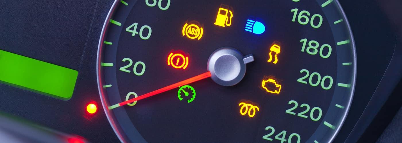 Dashboard Warning Lights Illuminated