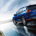 2020-Nissan-Rogue-on-a-wet-road