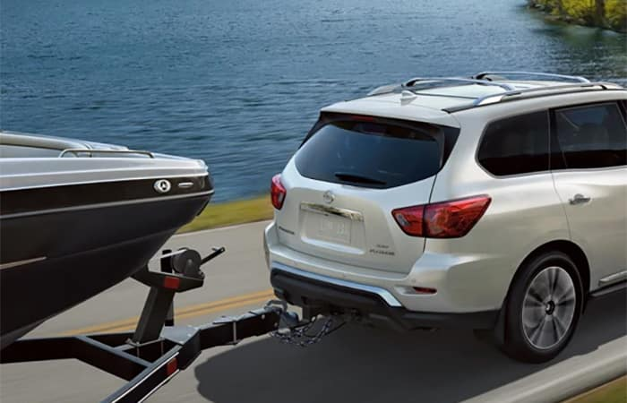 Nissan Pathfinder Towing a Boat