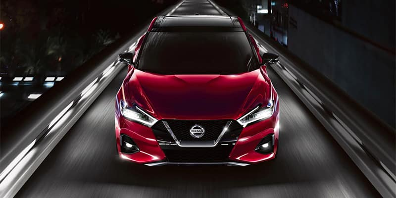 Nissan Maxima Driving Front End View