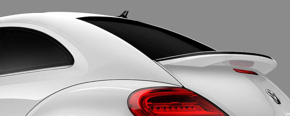White 2019 VW Beetle with Rear Spoiler