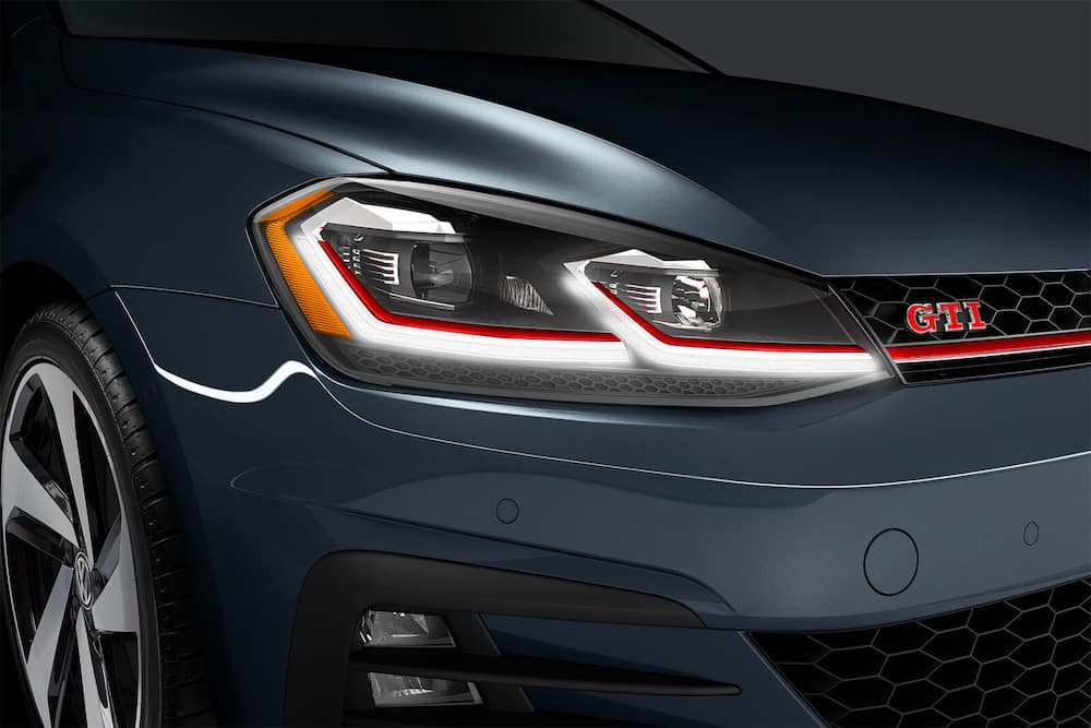2020 VW Golf GTI headlight and grille