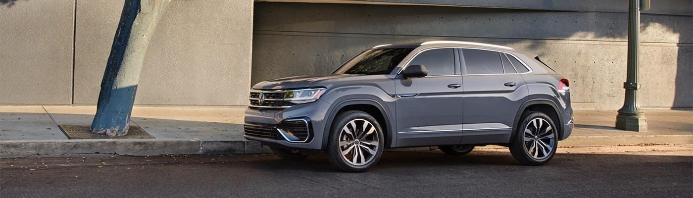 Volkswagen Atlas Cross Parked on Side of Road