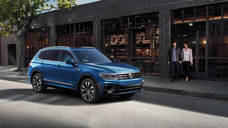 Volkswagen Tiguan Parked Outside Store